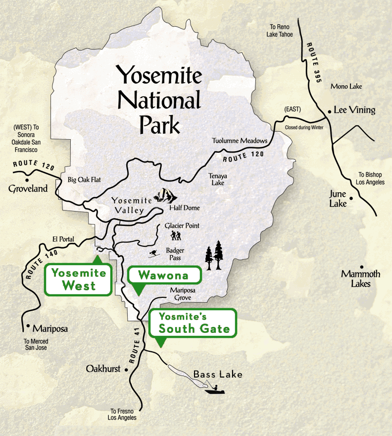 map - Enchanted Yosemite Yosemite Map Of Glacier on concordia glacier, john muir glacier, cirque glacier,